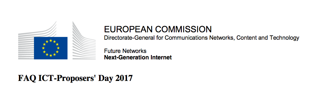 FAQ ICT-Proposers' Day 2017